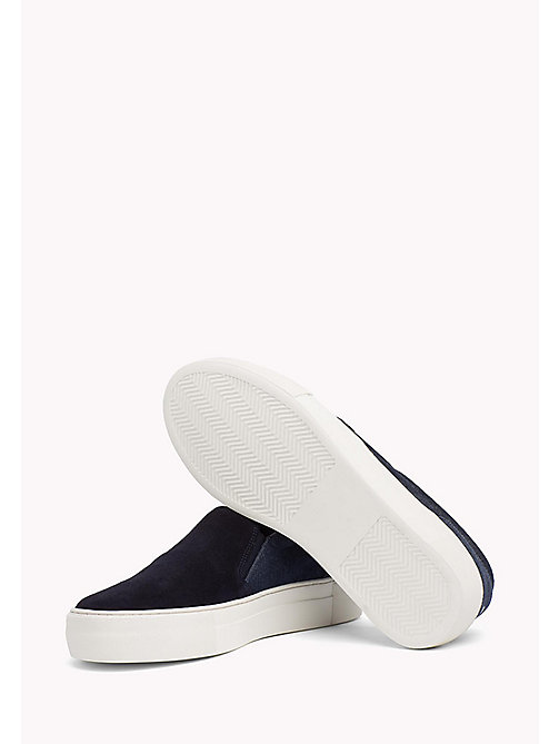 Suede Slip-On Trainers - MIDNIGHT-DENIM - TOMMY HILFIGER Shoes - detail image 1