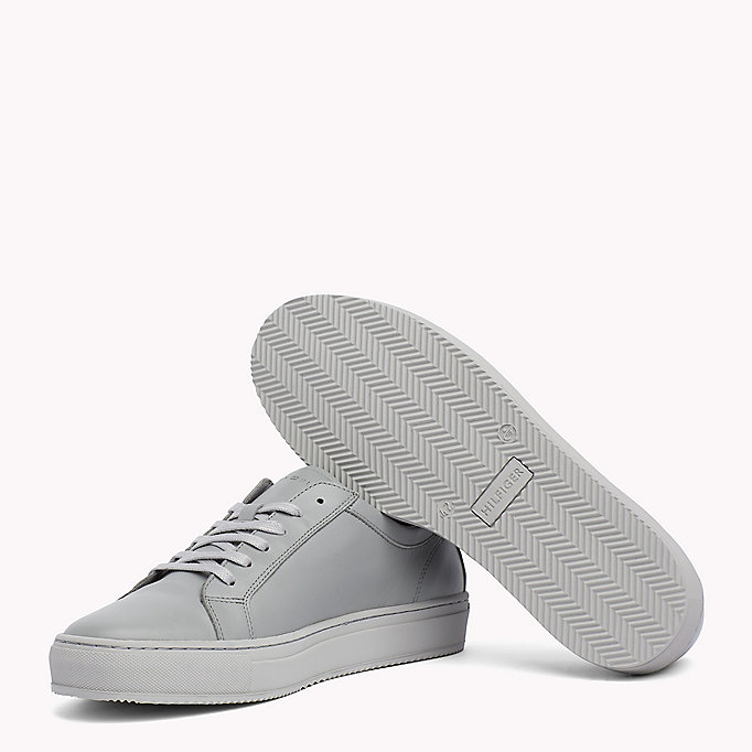 TOMMY HILFIGER Classic Leather Trainers - WHITE - TOMMY HILFIGER Men - detail image 1