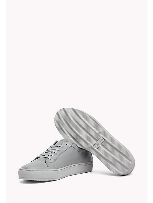 TOMMY HILFIGER Classic Leather Trainers - LIGHT GREY - TOMMY HILFIGER Shoes - detail image 1