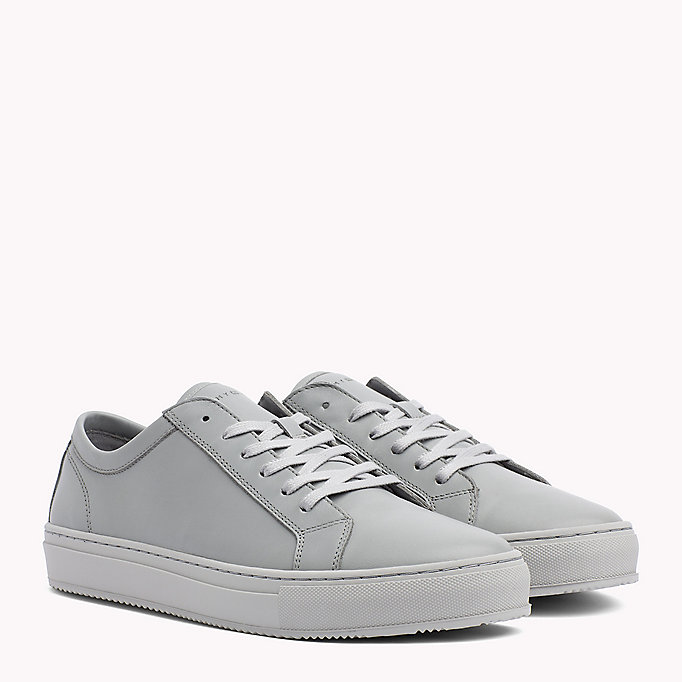 TOMMY HILFIGER Classic Leather Trainers - WHITE - TOMMY HILFIGER Men - main image