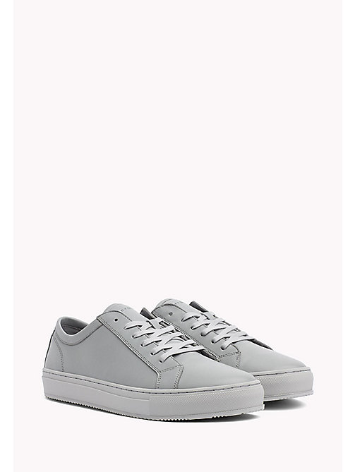 Classic Leather Trainers - LIGHT GREY - TOMMY HILFIGER Shoes - main image
