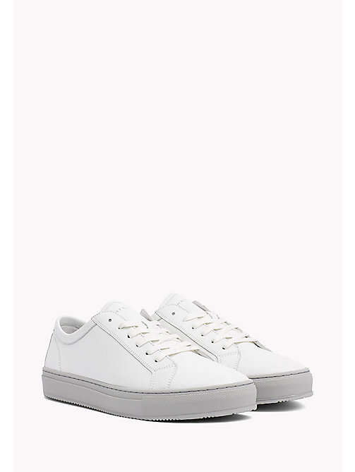 Classic Leather Trainers - WHITE - TOMMY HILFIGER Shoes - main image