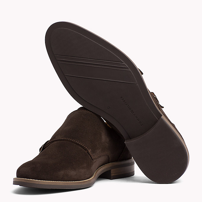 TOMMY HILFIGER Suede Monk Shoes - MIDNIGHT - TOMMY HILFIGER Men - detail image 1