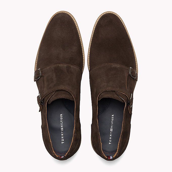 TOMMY HILFIGER Suede Monk Shoes - MIDNIGHT - TOMMY HILFIGER Men - detail image 3