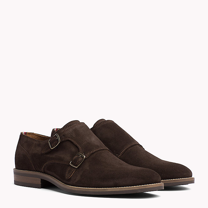 TOMMY HILFIGER Suede Monk Shoes - MIDNIGHT - TOMMY HILFIGER Men - main image