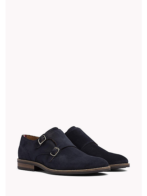 TOMMY HILFIGER Suede Monk Shoes - MIDNIGHT - TOMMY HILFIGER Lace-up Shoes - main image