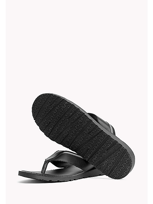 TOMMY HILFIGER Leather Slip-On Sandals - BLACK - TOMMY HILFIGER Summer shoes - detail image 1