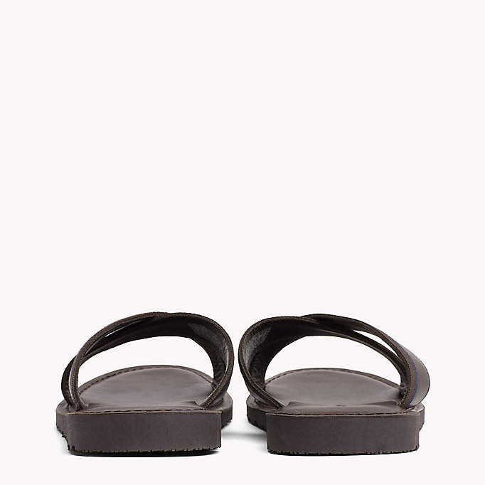 TOMMY HILFIGER Leather Cross Strap Sandals - BLACK - TOMMY HILFIGER Shoes - detail image 2