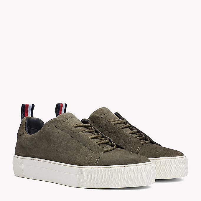 Lace-Up Leather Cupsole Trainers - Sales Up to -50% Tommy Hilfiger jT6MSI7