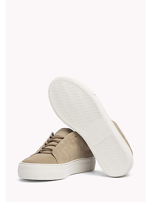 TOMMY HILFIGER Suede Cupsole Lace-Up Trainers - SAND - TOMMY HILFIGER Shoes - main image 1