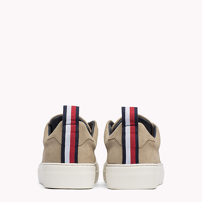 TOMMY HILFIGER Suede Cupsole Lace-Up Trainers - MIDNIGHT - TOMMY HILFIGER Shoes - detail image 2