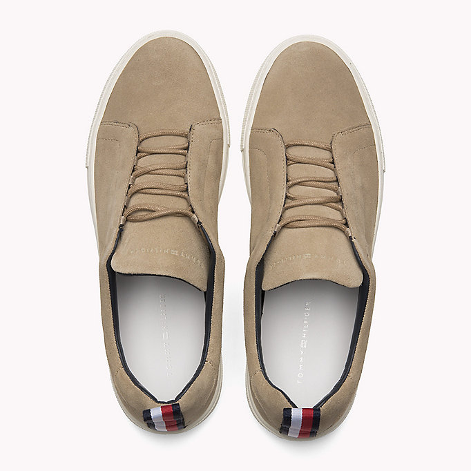 TOMMY HILFIGER Suede Cupsole Lace-Up Trainers - MIDNIGHT - TOMMY HILFIGER Shoes - detail image 3