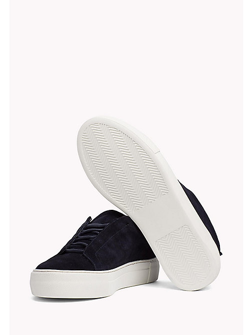 TOMMY HILFIGER Suede Cupsole Lace-Up Trainers - MIDNIGHT - TOMMY HILFIGER Shoes - main image 1