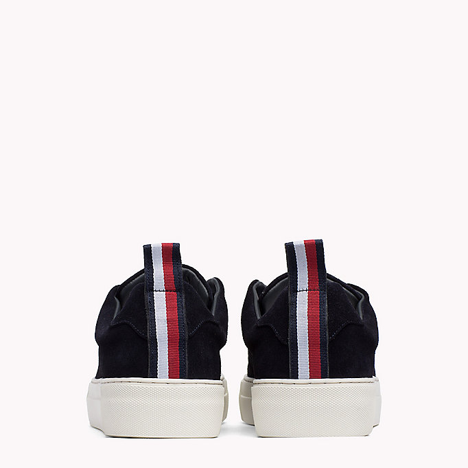TOMMY HILFIGER Suede Cupsole Lace-Up Trainers - DUSTY OLIVE - TOMMY HILFIGER Shoes - detail image 2