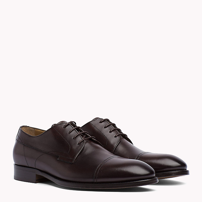 TOMMY HILFIGER Leather Lace-Up Shoes - BLACK - TOMMY HILFIGER Men - main image