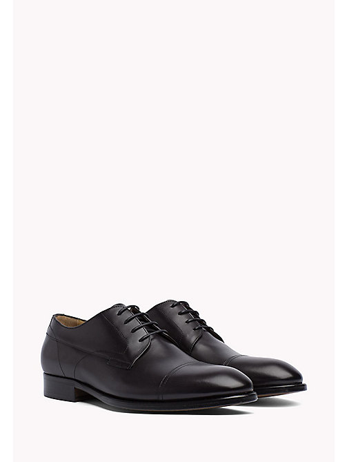 TOMMY HILFIGER Leather Lace-Up Shoes - BLACK - TOMMY HILFIGER What to Wear - main image