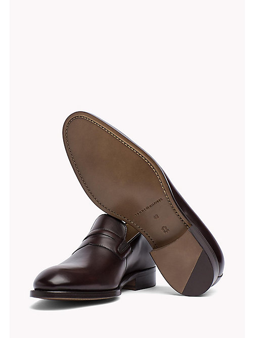 TOMMY HILFIGER Classic Leather Loafers - COFFEE BEAN - TOMMY HILFIGER Formal Shoes - detail image 1