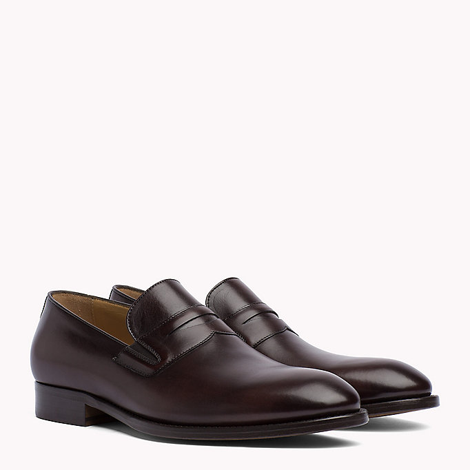 TOMMY HILFIGER Classic Leather Loafers - BLACK - TOMMY HILFIGER Men - main image