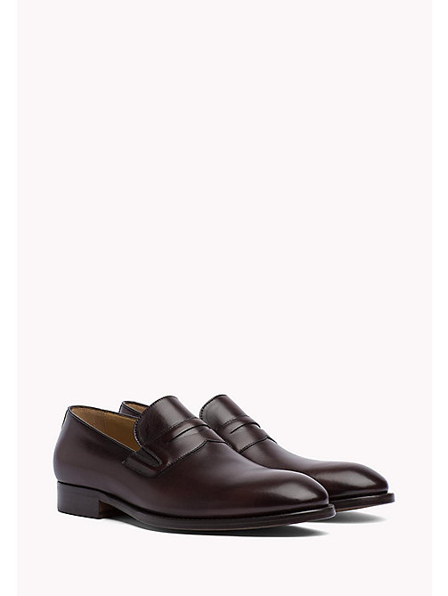 TOMMY HILFIGER Classic Leather Loafers - COFFEEBEAN - TOMMY HILFIGER Formal Shoes - main image