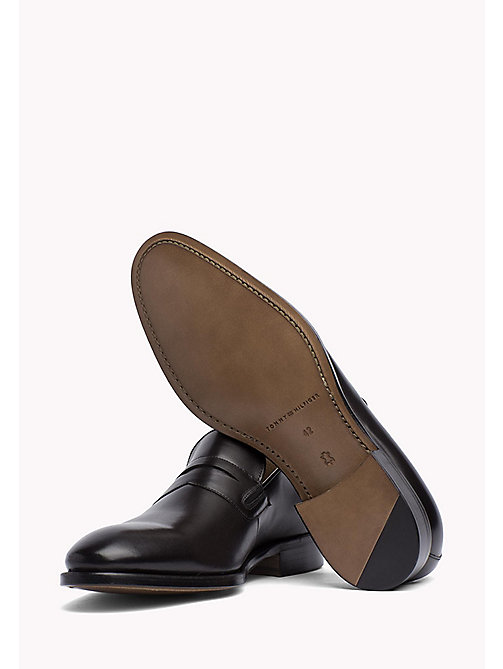TOMMY HILFIGER Classic Leather Loafers - BLACK - TOMMY HILFIGER Shoes - detail image 1