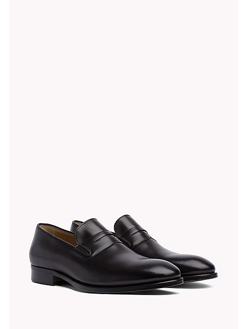 TOMMY HILFIGER Classic Leather Loafers - BLACK - TOMMY HILFIGER Shoes - main image