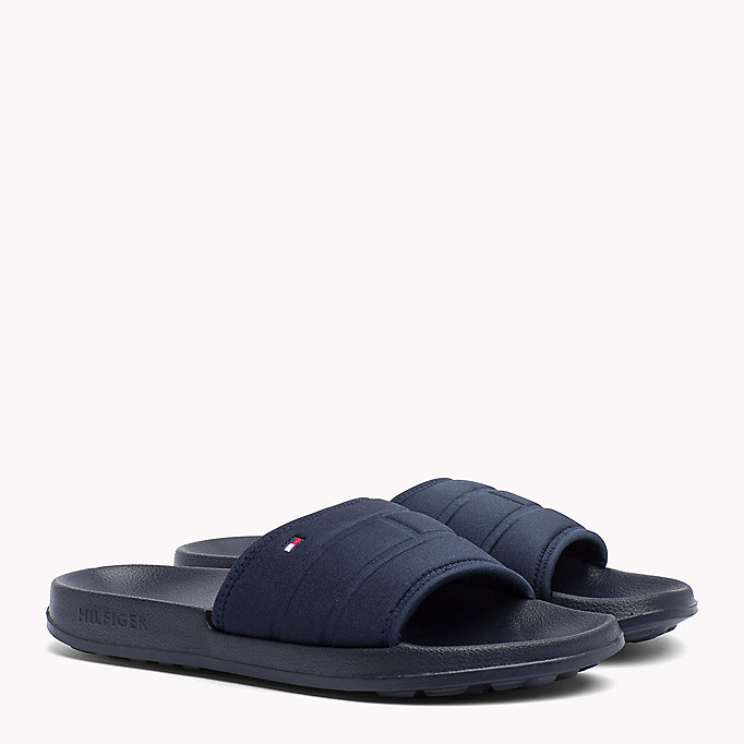 TOMMY HILFIGER Tommy Hilfiger Sliders - BLACK - TOMMY HILFIGER Men - main image
