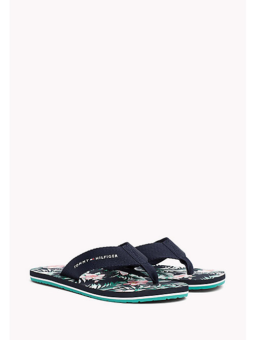 TOMMY HILFIGER Floral Beach Sandals - MIDNIGHT - TOMMY HILFIGER Sandals & Flip Flops - main image
