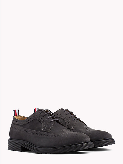 TOMMY HILFIGER Classic Suede Shoes - CHARCOAL - TOMMY HILFIGER Shoes - main image