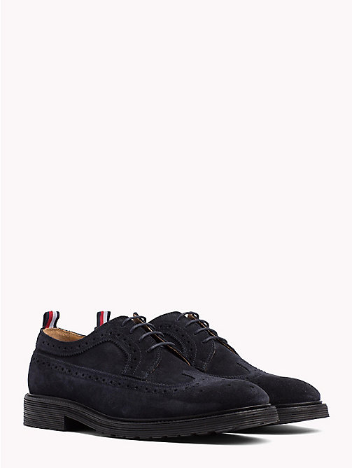 TOMMY HILFIGER Classic Suede Shoes - MIDNIGHT - TOMMY HILFIGER Shoes - main image
