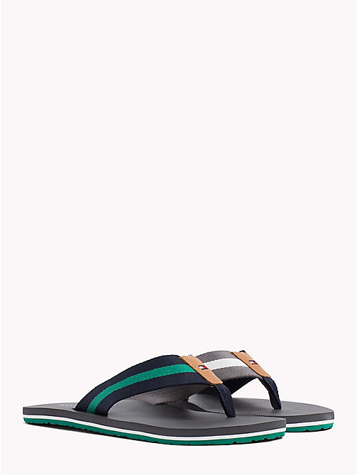 TOMMY HILFIGER Stripe Beach Sandals - STEEL GREY - TOMMY HILFIGER Summer shoes - main image