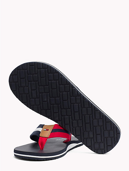 TOMMY HILFIGER Stripe Beach Sandals - MIDNIGHT - TOMMY HILFIGER Summer shoes - detail image 1