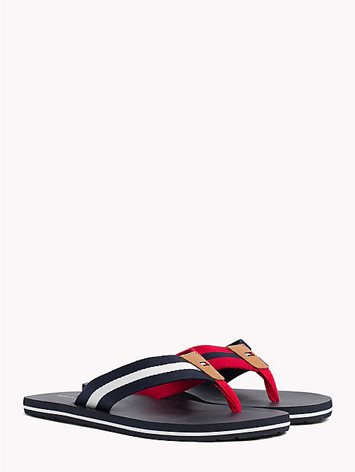 TOMMY HILFIGER Stripe Beach Sandals - MIDNIGHT - TOMMY HILFIGER Summer shoes - main image