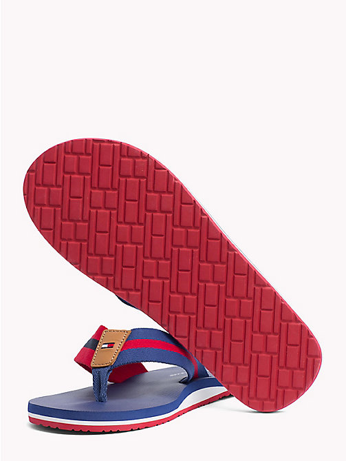 TOMMY HILFIGER Stripe Beach Sandals - MONACO BLUE - TOMMY HILFIGER Summer shoes - detail image 1