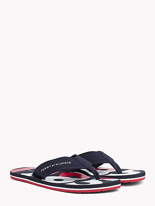 TOMMY HILFIGER BASIC BEACH SANDAL - MIDNIGHT - TOMMY HILFIGER Sandals & Flip Flops - main image