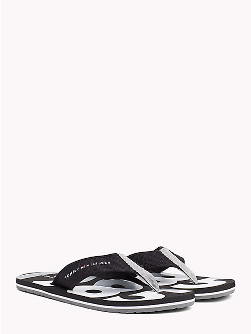 TOMMY HILFIGER BASIC BEACH SANDAL - BLACK - TOMMY HILFIGER NEW IN - main image