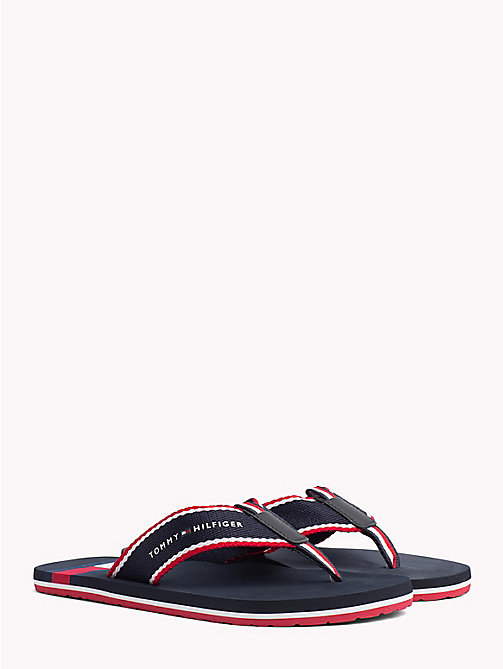 TOMMY HILFIGER Flag Logo Beach Sandals - MIDNIGHT - TOMMY HILFIGER Summer shoes - main image