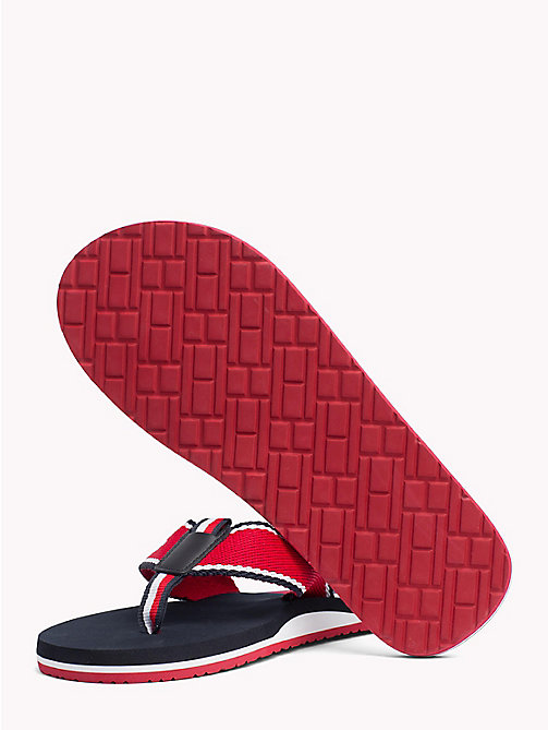 TOMMY HILFIGER Flag Logo Beach Sandals - TANGO RED - TOMMY HILFIGER Sandals & Flip Flops - detail image 1