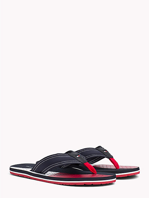 TOMMY HILFIGER TECHNICAL WEBBING BEACH SANDAL - MIDNIGHT - TOMMY HILFIGER Sandals & Flip Flops - main image