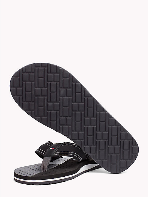 TOMMY HILFIGER TECHNICAL WEBBING BEACH SANDAL - BLACK - TOMMY HILFIGER NEW IN - main image 1