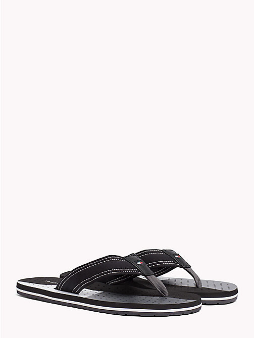 TOMMY HILFIGER TECHNICAL WEBBING BEACH SANDAL - BLACK - TOMMY HILFIGER NEW IN - main image