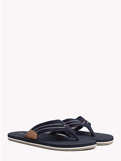 TOMMY HILFIGER Stripe Strap Beach Sandals - MIDNIGHT - TOMMY HILFIGER NEW IN - main image