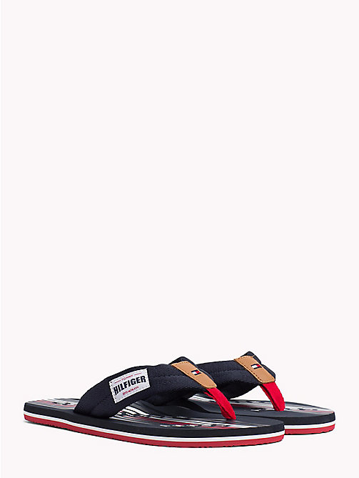 TOMMY HILFIGER Logo Print Flip-Flops - MIDNIGHT - TOMMY HILFIGER Summer shoes - main image