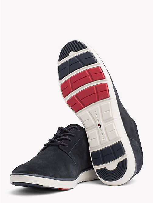 TOMMY HILFIGER Lightweight Signature Sole Suede Trainers - MIDNIGHT - TOMMY HILFIGER NEW IN - detail image 1