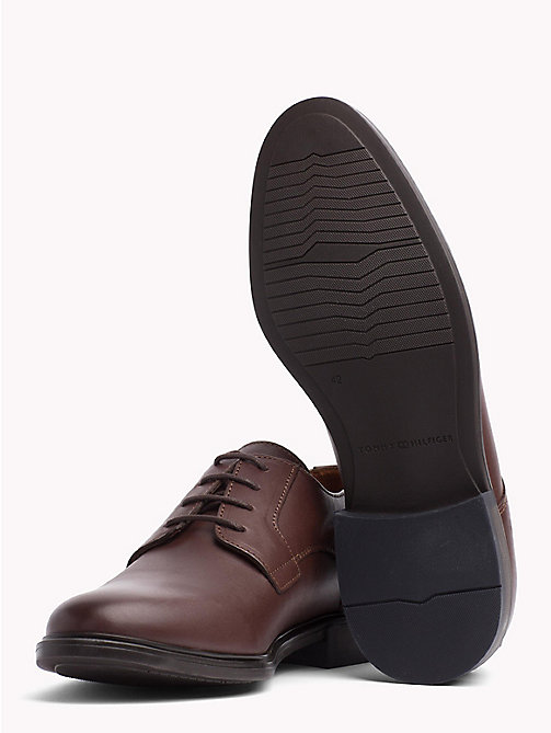 TOMMY HILFIGER Classic Leather Shoes - COFFEE - TOMMY HILFIGER Lace-up Shoes - detail image 1