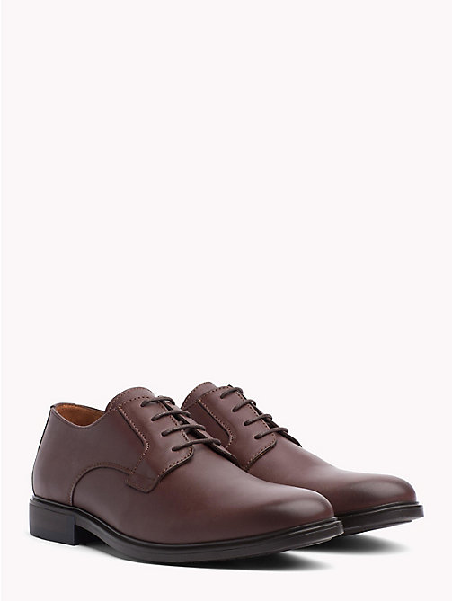 TOMMY HILFIGER Classic Leather Shoes - COFFEE - TOMMY HILFIGER Lace-up Shoes - main image