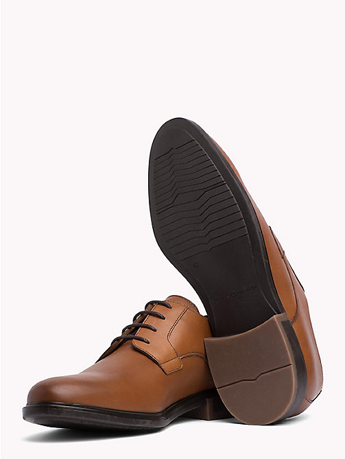TOMMY HILFIGER Classic Leather Shoes - COGNAC - TOMMY HILFIGER Lace-up Shoes - detail image 1