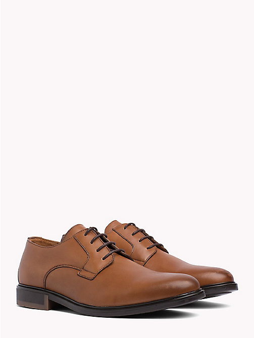 TOMMY HILFIGER Classic Leather Shoes - COGNAC - TOMMY HILFIGER NEW IN - main image