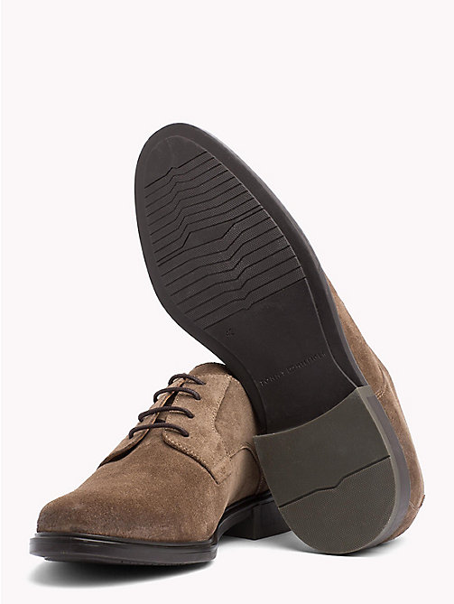 TOMMY HILFIGER Classic Suede Shoes - SHITAKE - TOMMY HILFIGER NEW IN - detail image 1