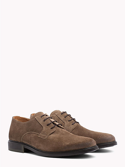 TOMMY HILFIGER Classic Suede Shoes - SHITAKE - TOMMY HILFIGER Lace-up Shoes - main image