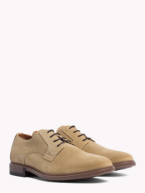 TOMMY HILFIGER Classic Suede Shoes - CASHMERE - TOMMY HILFIGER Lace-up Shoes - main image